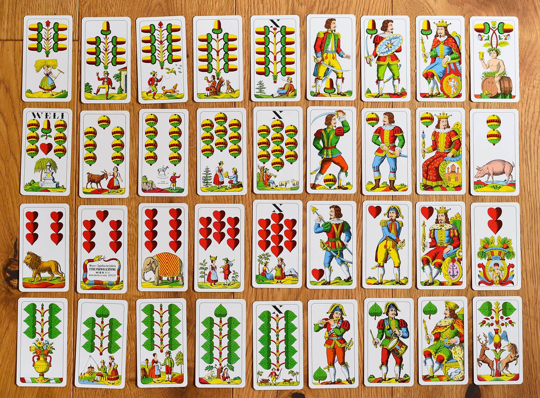Vorarlberger Jasskarten (36 Blatt)